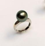 Tahitská perla bílé zlato